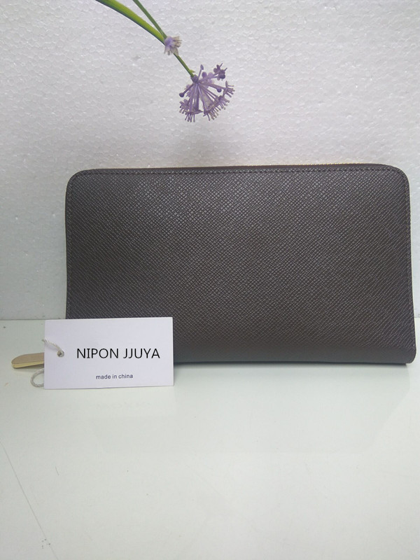 Hot selling!! 2017NIPON JJUYA new fashion business casual large capacity 1:1 high quality Genuine Leather Long zippy Wallets