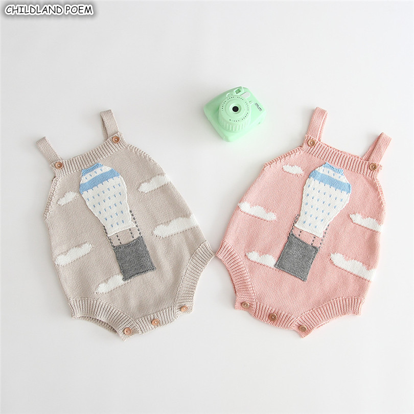 Newborn Baby Romper Sleeveless Knitting Baby Clothes 100% Cotton Infant Toddler Baby Jumpsuit Girl Boy Romper Onesie Overalls
