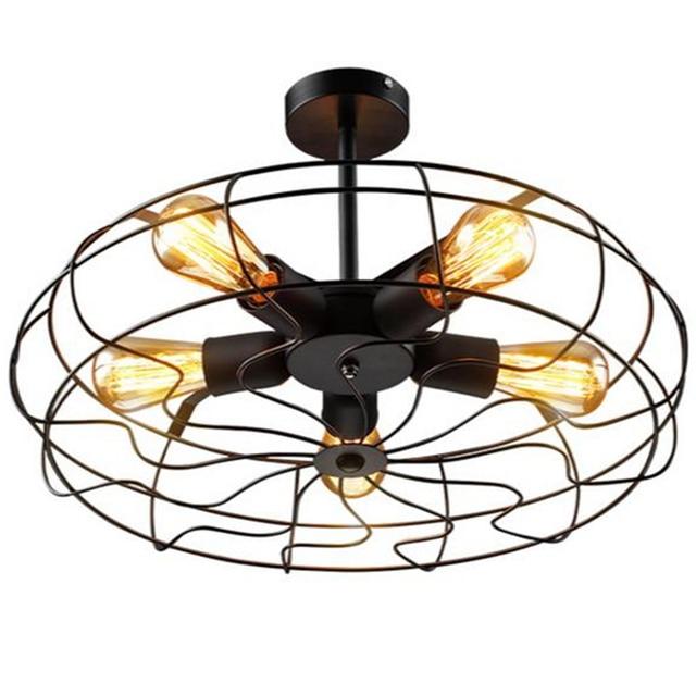 wongshi Vintage Retro Industrie Electric Fan Pendant Lamp Cafe Bar Livingroom Bedroom Balcony Corridor Lighting Fixture