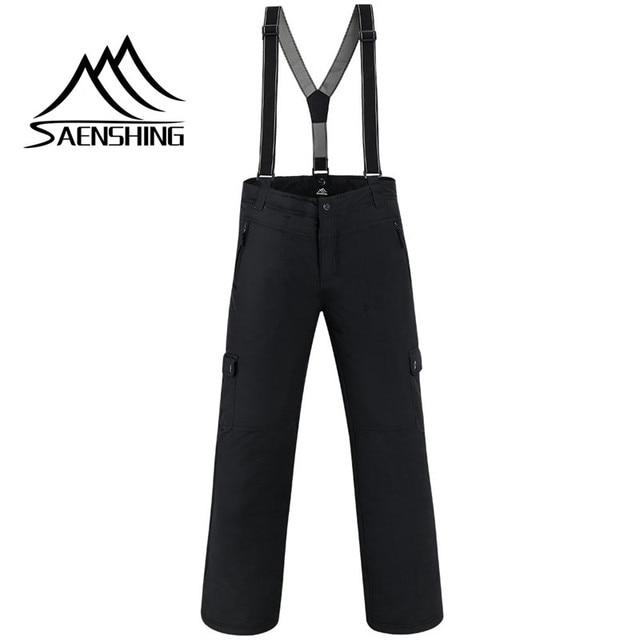 SAENSHING Winter Ski Pant Men Super Warm Waterproof Snowboard Pants Ski Trousers Breathable Outdoor Skiing Cheap Winter Pants