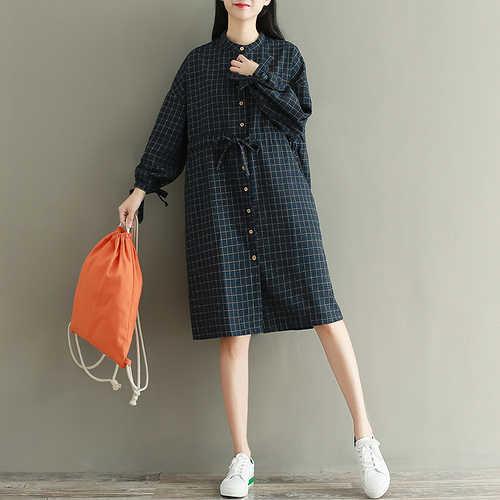 Mori Girl Harajuku Винтаж Boho элегантный дизайн в богемном стиле халат свободные милый сладкий Толстый Плед Хлопок Весна кружевное платье vestidos Mujer