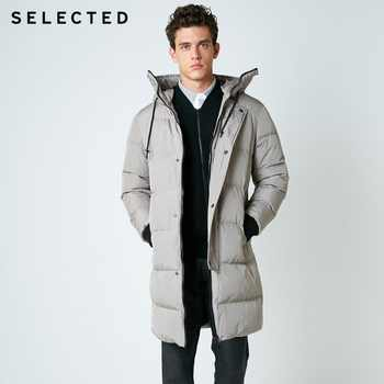 SELECTED 2019 New Winter Down Jacket Men's Zipper and Hat Casual Clothes Medium-and-Long Coat  S | 418412503 - DISCOUNT ITEM  64% OFF All Category