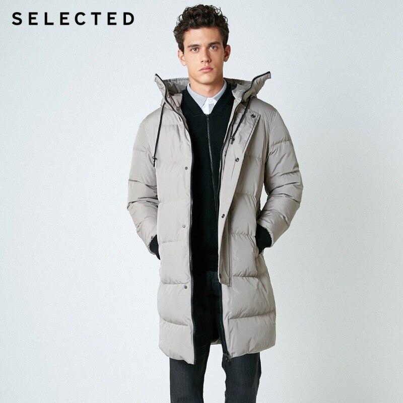 SELECTED nouveau hiver doudoune hommes fermeture éclair et chapeau décontracté moyen et Long manteau costume S   418412503