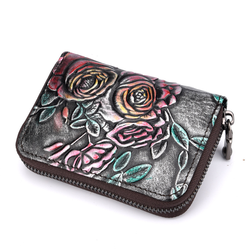 2017 Genuine Leather Women ID Card Holder Card Wallet Credit Card Holder Business Card H ...