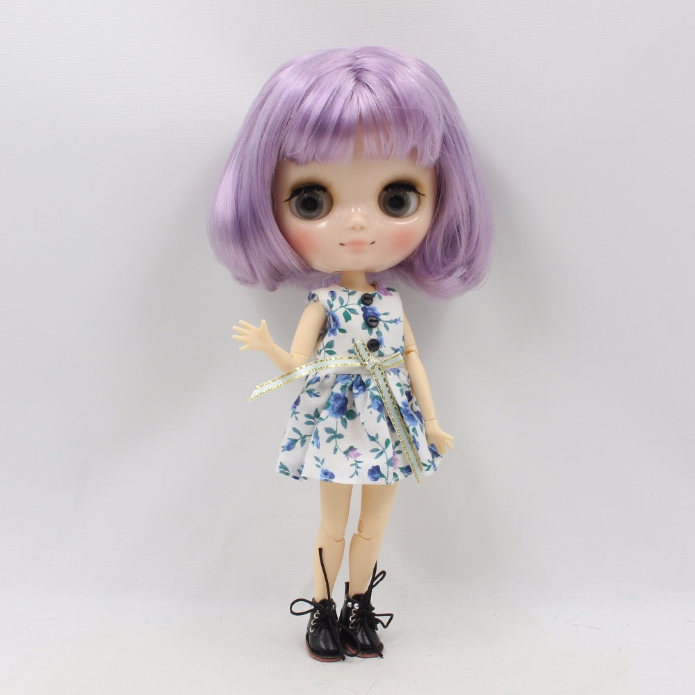 Middie Blythe Doll with Purple Hair, Tilting-Head & Jointed Body 1