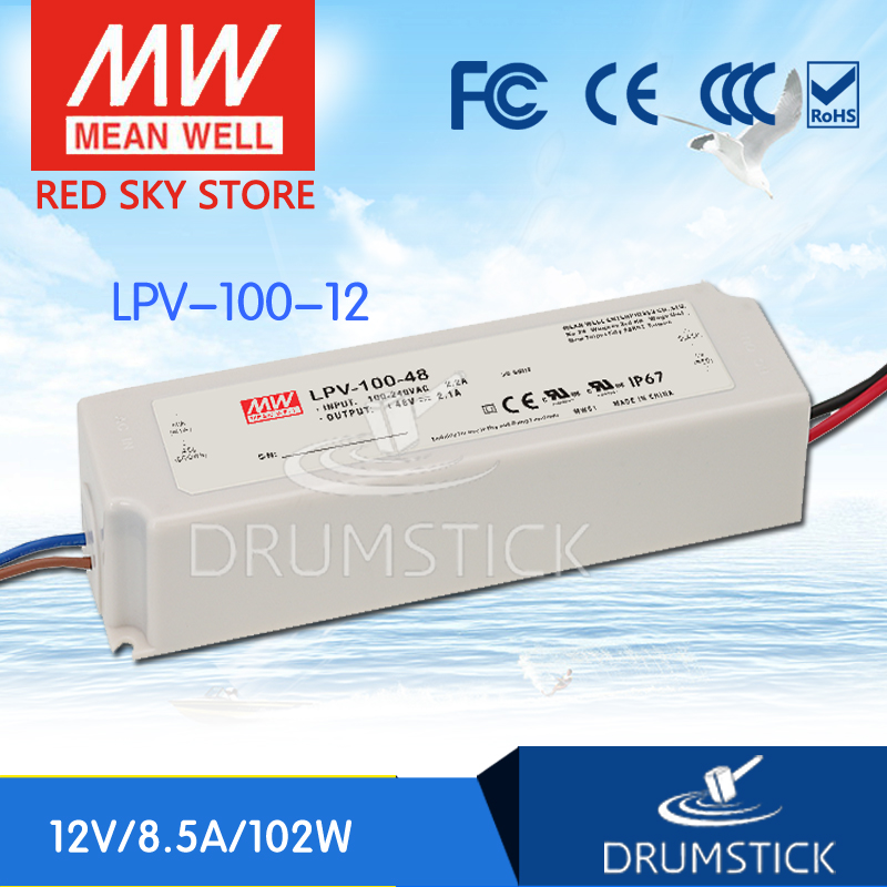 цена на (12.12)MEAN WELL LPV-100-12 12V 8.5A meanwell LPV-100 12V 102W Single Output LED Switching Power Supply