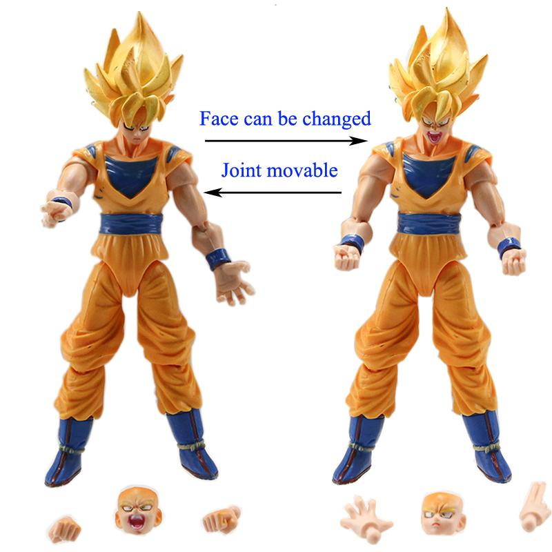 Dragonball Z Action Figures Changeable Parts 6pcs Set 7