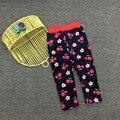 3 4 5 6 8 лет девочки теплый флис зимние брюки дети сгущает осень брюки милые одежды для детей