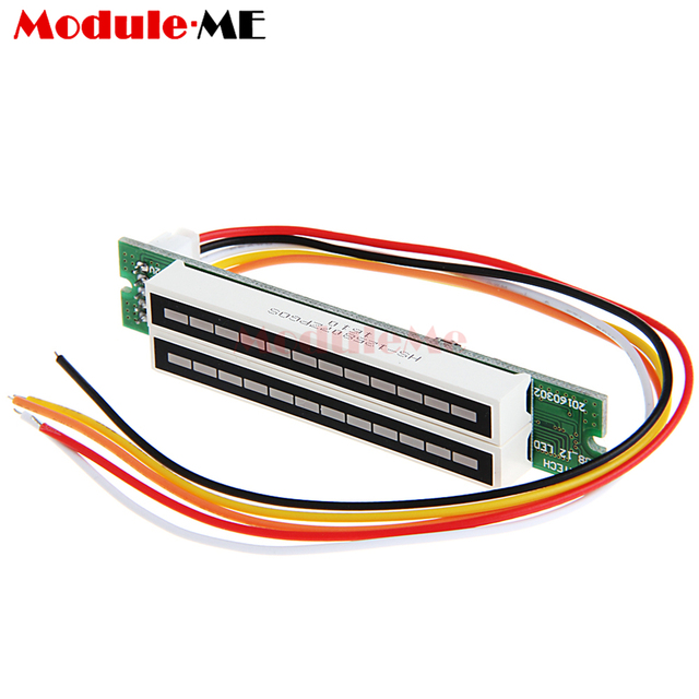 US $8 0  Mini Dual 12 Segments Music Level LED Light Bar Indicator VU Meter  Stereo Amplifier Board Module Assemed Module-in Integrated Circuits from