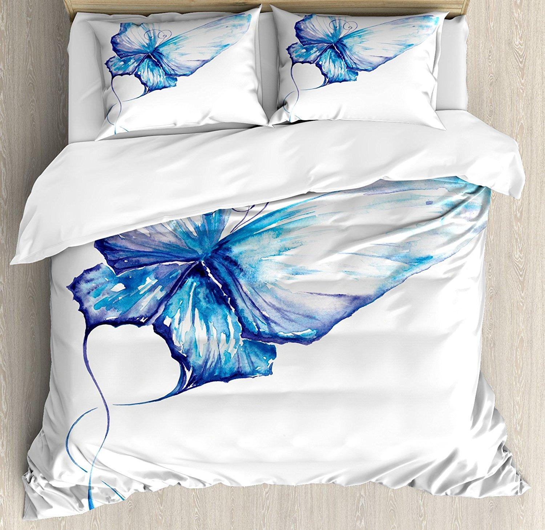 designs floral large carousel watercolor duvet cover