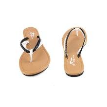 STARFARM Braid Strap Flip Flops in white Black Slippers font b Shoes b font Woman Sandals