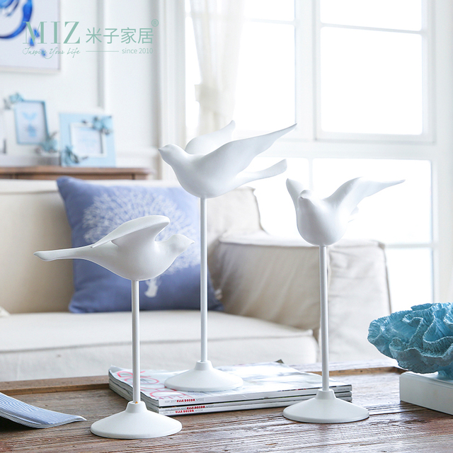 Miz 1 Piece Bird Statue Resin Figurine Home Decoration Accessories Elegant Flying Interior Decor Gift