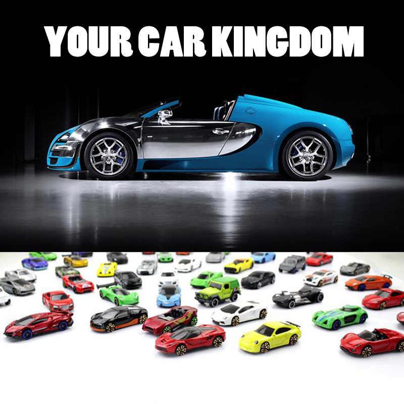Grosir 1: 64 Skala Mini Logam Olahraga Model Mobil Mainan Cepat dan Marah Mengikuti Mobil Auto Paduan Saku Mobil Mainan untuk Anak anak Laki-laki