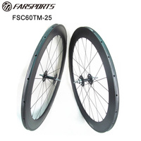 Far sports carbon racing wheels 60mm tubular rims, Novatec fixed gear track carbon wheels 700C disc braking available