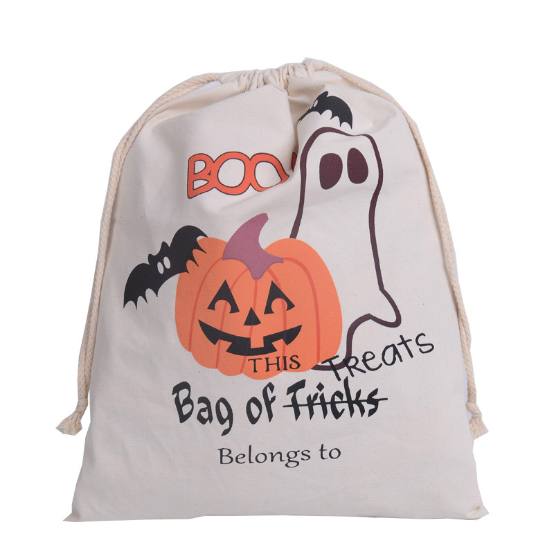 5pcslot halloween gift bags kids candy bags 6 styles 100 cotton canvas halloween - Halloween Gifts Kids