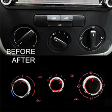 3pcs Air Condition Heater Control Knob Switch for Golf MK5 MK6 Caddy Passat Set Refitting Conditioning Button