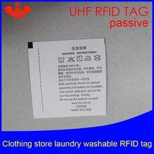 UHF RFID бирка Прачечная Одежда моющиеся печатные бирки 915 868 860-960 м Impinj Monza R6 EPC Gen2 6C смарт-карты пассивные RFID метки