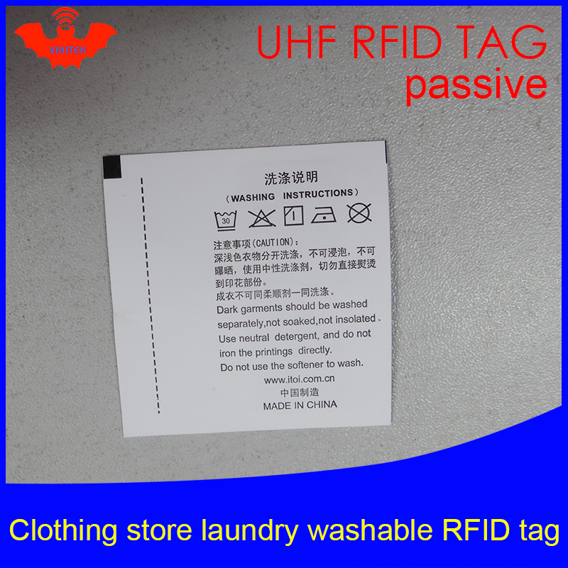 UHF RFID Tag Laundry Clothing Washable Printable Tags 915 868 860-960M Impinj Monza R6 EPC Gen2 6C Smart Card Passive RFID Tags