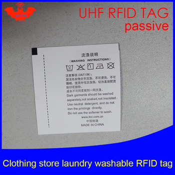 UHF RFID tag laundry clothing Washable printable tags 915 868 860-960M Impinj Monza R6 EPC Gen2 6C smart card passive RFID tags image