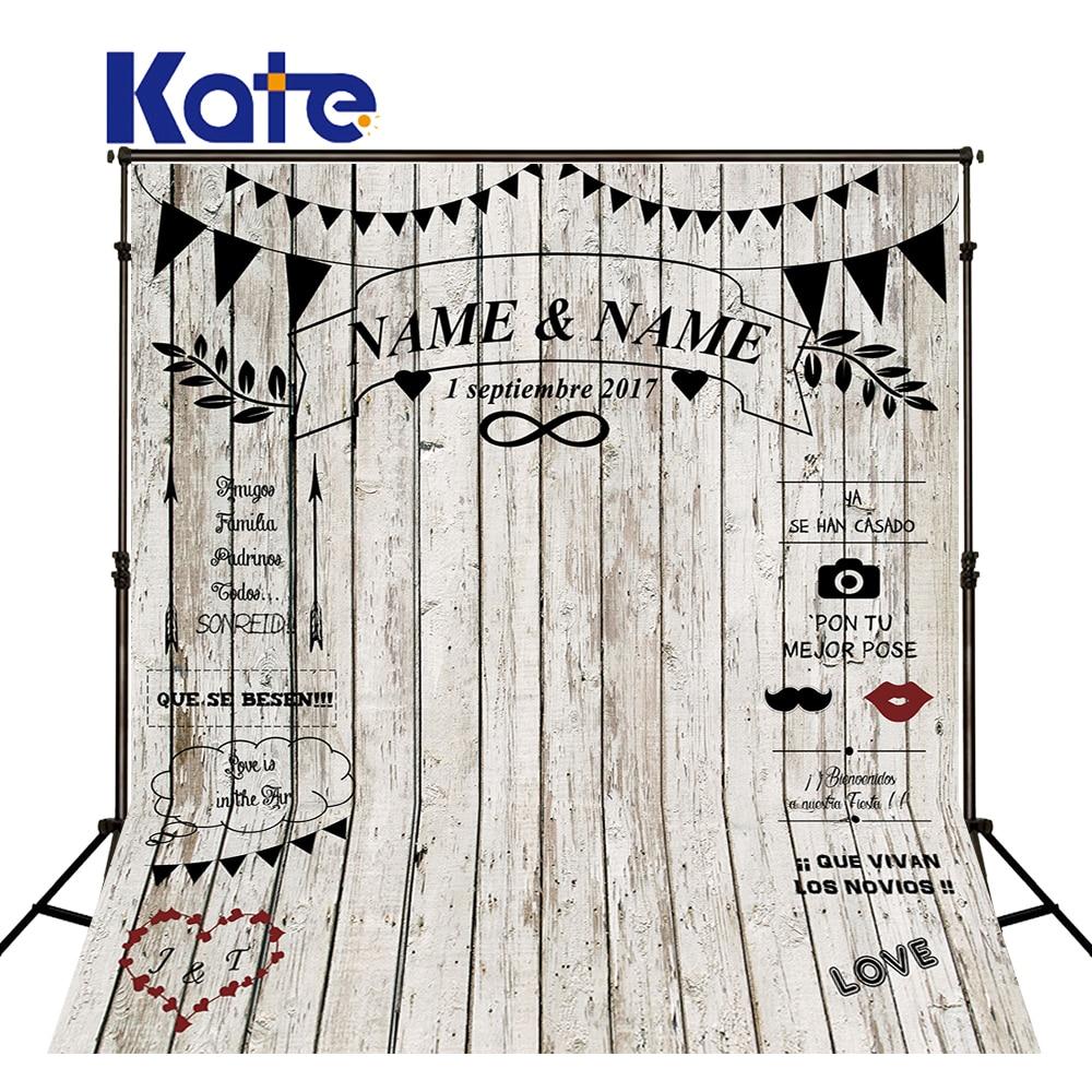Kate Wood personnalisé mariage tableau noir nom Date Photocall photographie caméra toile de fond Photo stand arrière-plan Photo craie toile de fond