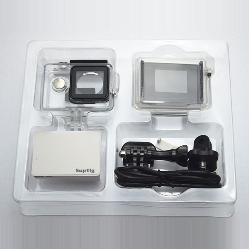 For Xiaomi Yi Case With LCD/Battery Backdoor Waterproof Box+LCD Display Screen+Charge Battery+Adapter For Xiaoyi Accessores Set