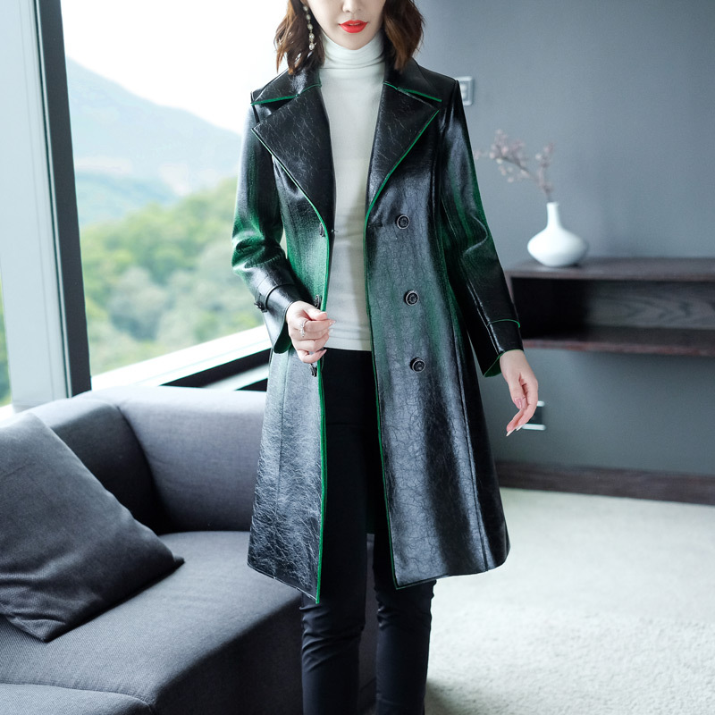 High Quality PU   Leather   Coat New 2018 Autumn Winter Women   Leather   &   Suede   Outerwear Coat Plus Size XXXXL Coat Overcoats Female