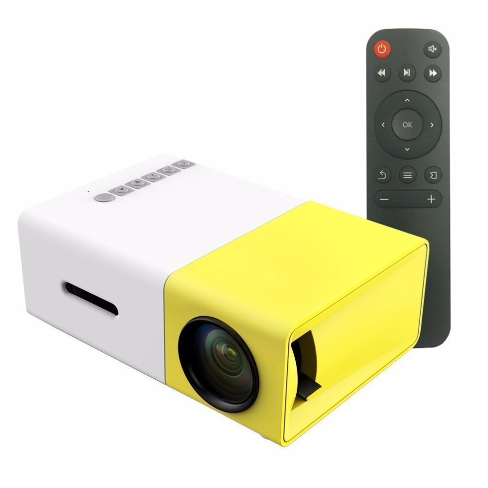 H60 Portable 3d Led Projector Lcd Multimedia Home Cinema: H96 Portable YG300 LCD Led Projector 400 600LM 320 X 240