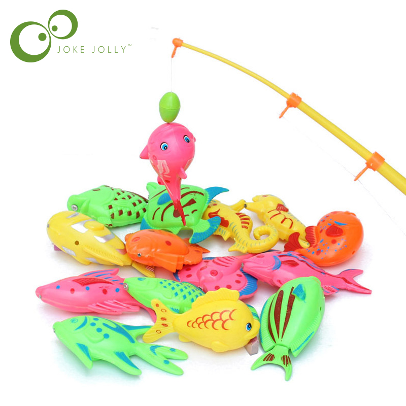 6pcs/lot Learning & Education Magnetic Fishing Toy Comes Outdoor Fun & Sports Fish Toy Gift For Baby/kid GYH(China)
