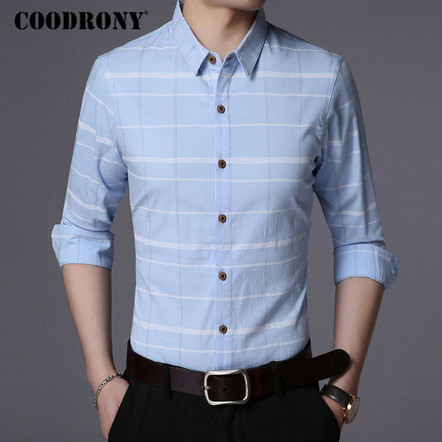 Business Casual Striped Long Sleeve Shirt 4