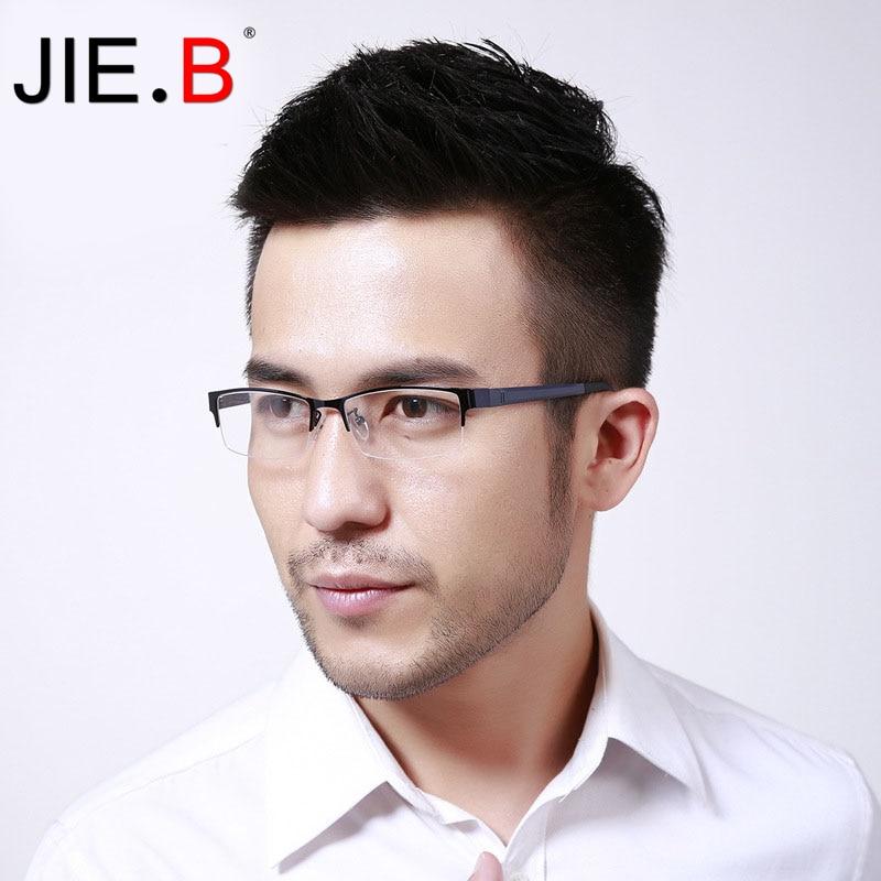 JIE B Anti Blue Laser Fatigue Radiation resistant Men 39 s Optical Eyeglasses Glasses Frame Oculos de grau Eyewea Male Gafas in Men 39 s Eyewear Frames from Apparel Accessories