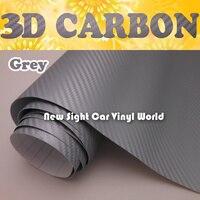High Quality Grey 3D Carbon Fiber Vinyl Dark Gray Carbon Fiber Wrap Air Free Thickness:0.18mm Size:1.52*30m/Roll