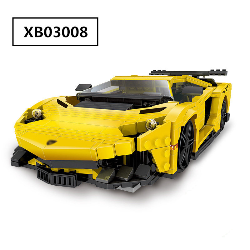 834pcs Diy Building Blocks Creative MOC Technic Yellow Lightning Racing Car Model Compatible with Legoingly Toys for Children834pcs Diy Building Blocks Creative MOC Technic Yellow Lightning Racing Car Model Compatible with Legoingly Toys for Children