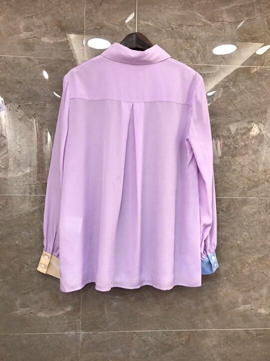 Mode Revers De Nouveau À Correspondant Pour Chemise Couleur 226 Gamme 2019 Haut Vêtement Brassard Femme IwHvIqU