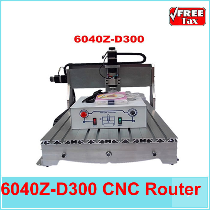 Free tax to EU countries!! cnc router 6040 z-d 300w spindle lathe to metal stone wood pcb ball screw CNC Milling Machine eur free tax cnc router 3020z s800 4 axis with 800w spindle mini cnc lathe machine for metal wood