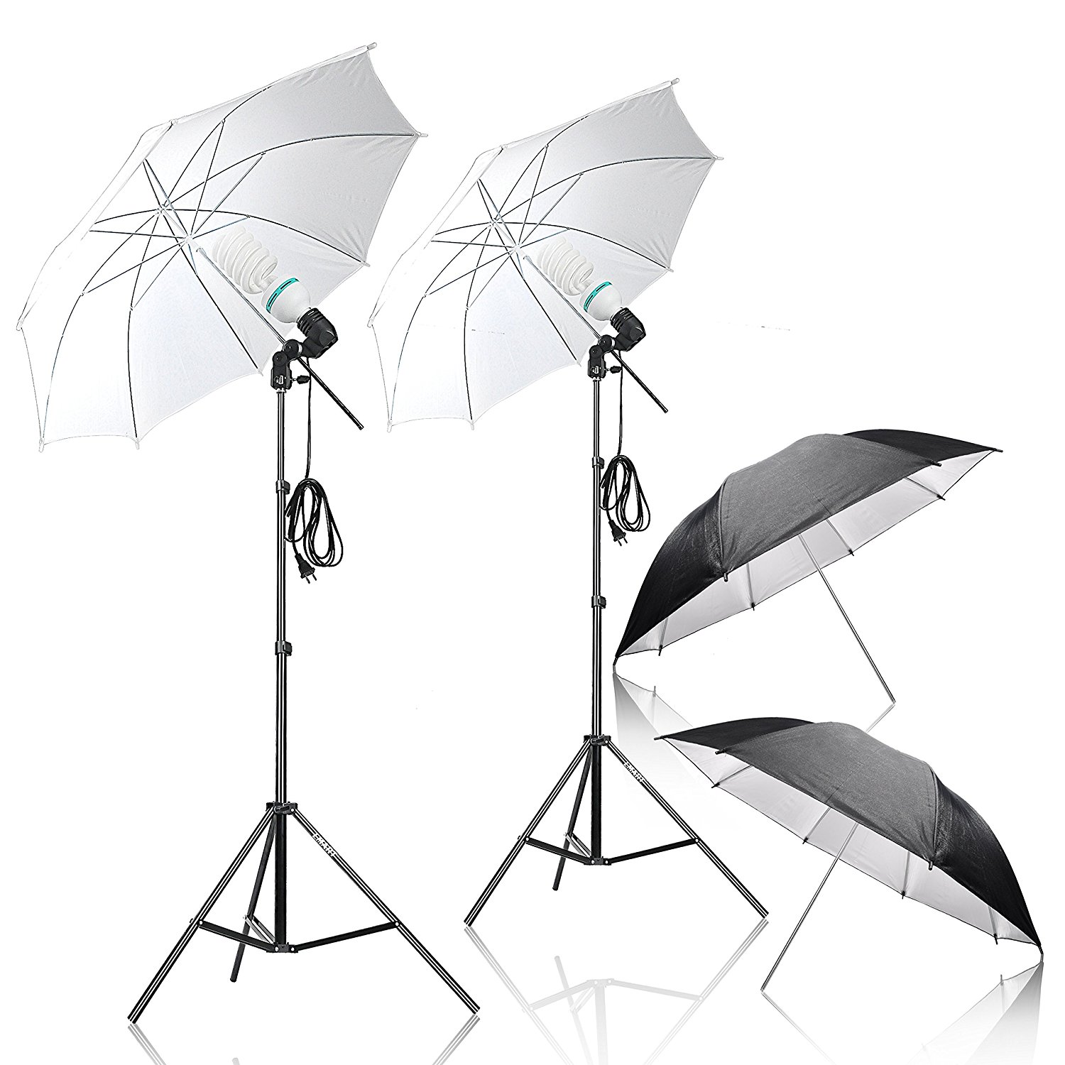 TNT DHL Free 175W 5500K Continuous Day Light Photo Portrait Studio Video Equipment E27/E26 Photography Umbrella Lighting Kit 2250w photo studio continuous lighting 10x45w bulbs 50 70cm softboxes stands kit free shipping via dhl or ems
