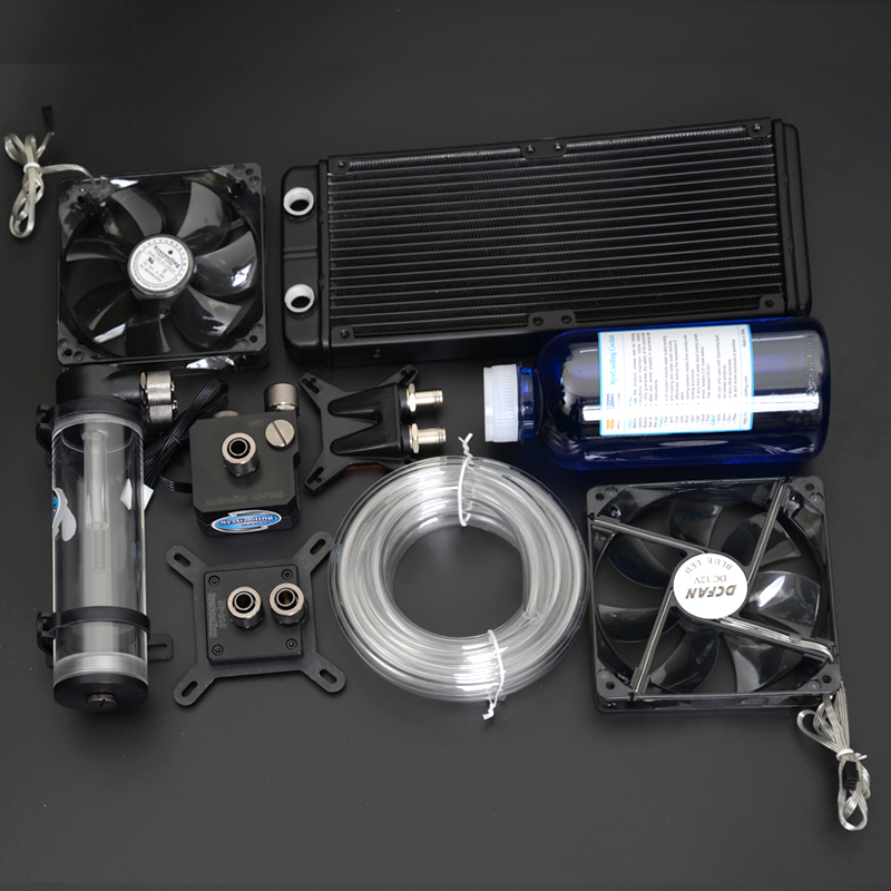 Syscooling computer cooling water system liquid cooling kit for CPU GPU liquid cooling cold plate system for power modules