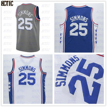 0421444ed67 ECTIC 2018 Ben Simmons 25 White Red Bule Retro Throwback Stitched  Basketball Jersey
