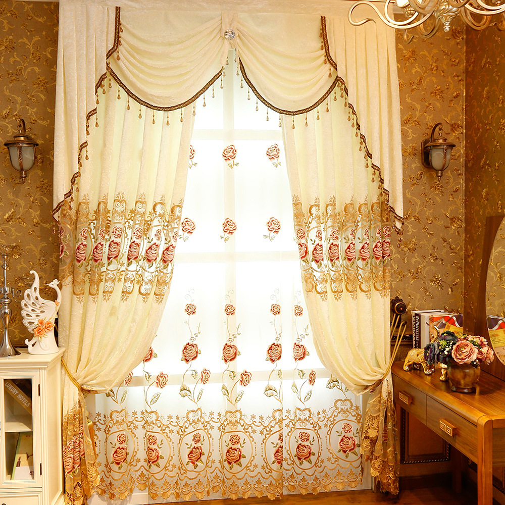 Pastoral-Custom-Made-Embroidered-Decoration-Cloth-Curtain-Valance-For-living-Room-Bedroom-Window-Treatment-Drapes-Tulle