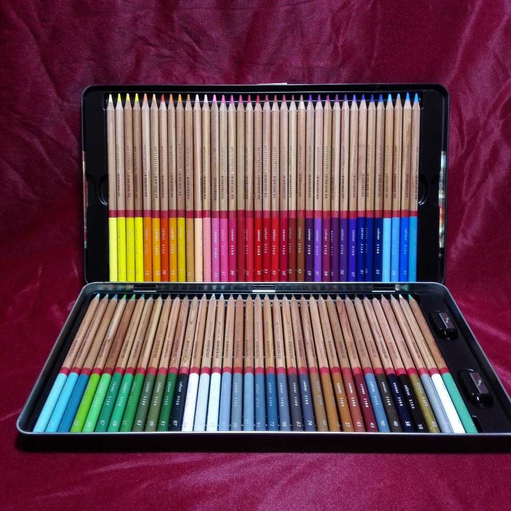 72 colored pencils painting set pigments for brilliant lightfast colors material escolar. Black Bedroom Furniture Sets. Home Design Ideas