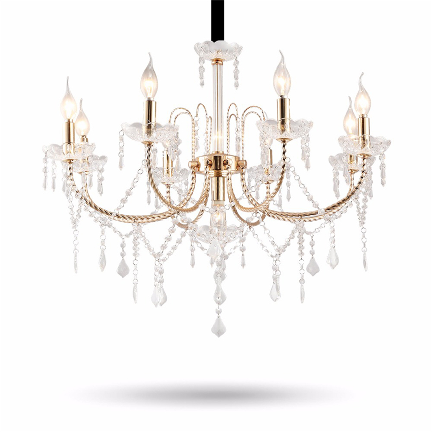Nordic Candle Style E17 Crystal LED Kitchen Dining Bar Pendant Lights Pendent Lamps Fixture for Living Room Gold Color LuminaireNordic Candle Style E17 Crystal LED Kitchen Dining Bar Pendant Lights Pendent Lamps Fixture for Living Room Gold Color Luminaire