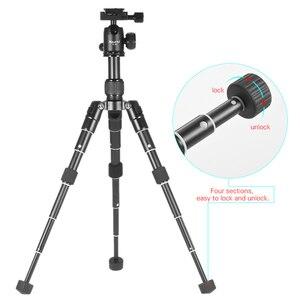 Image 2 - حامل ثلاثي FM5 MINI من الألومنيوم ذو حامل ثلاثي ثابت لسطح المكتب ورأس كروي للكاميرا الرقمية هاتف ذكي بدون مرآة شحن مجاني