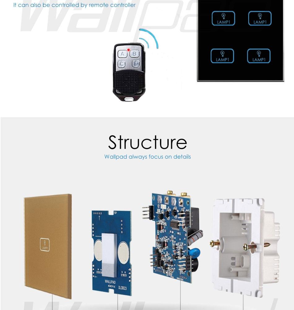 110v 250v Led Dimmer Switch Wallpad White Crystal Glass Panel 6 2 Way Light Getsubject Aeproduct