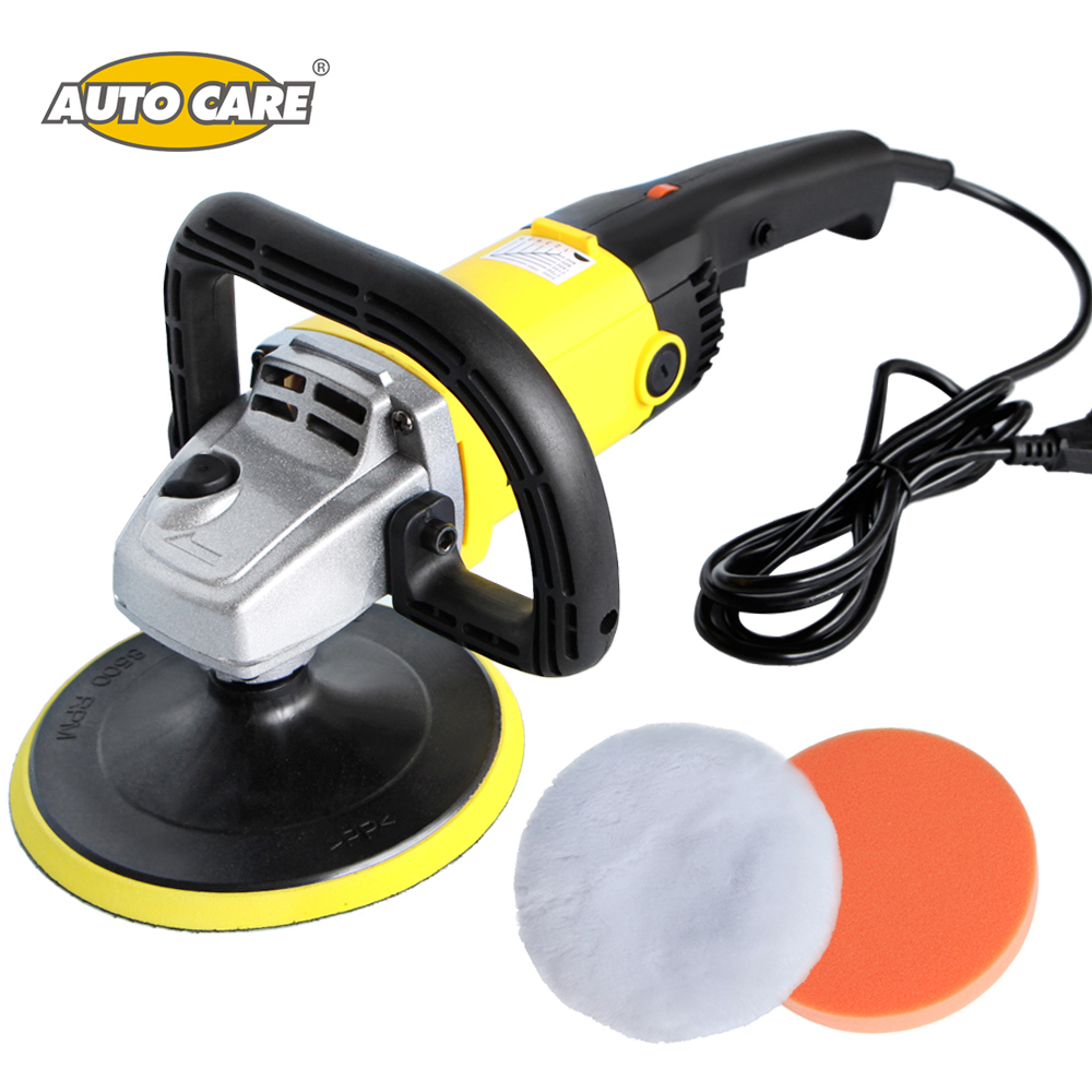 Car Polisher 1200W Variable Speed 3000rpm 180mm Car Paint Care Tool Polish Sander 220V M14 Car Wax Electric Floor Polisher 120w orbital professional variable speed polisher with terry cloth bonnet