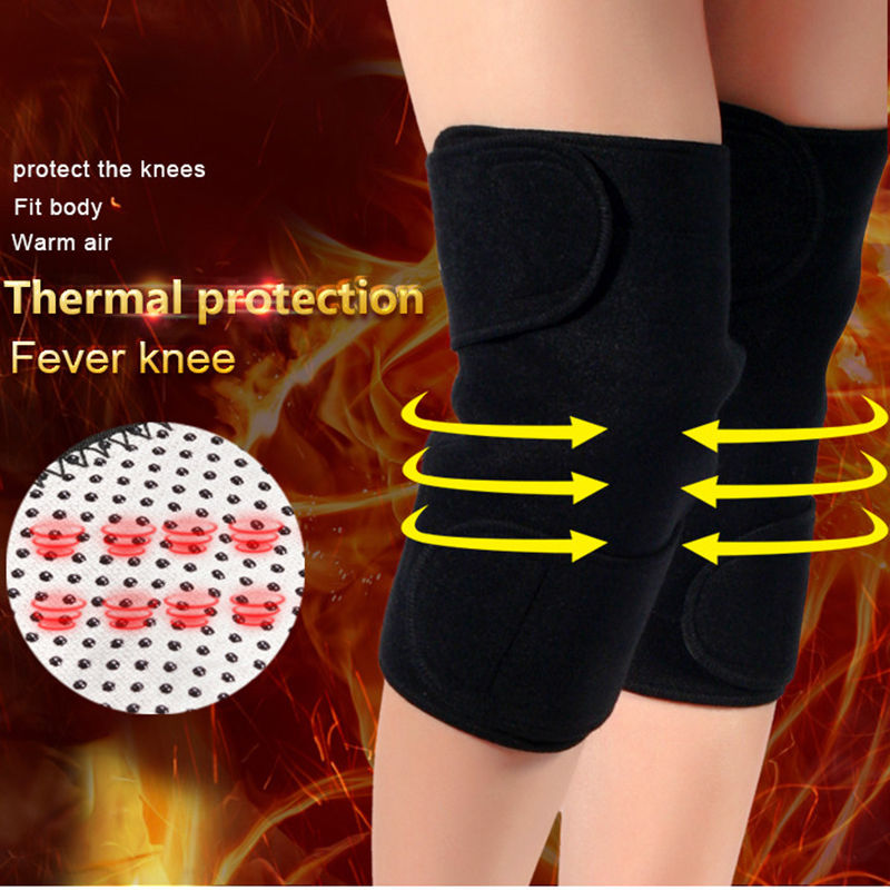 Galleria fotografica 1Pair (2pcs) Tourmaline self heating kneepad Magic Therapy knee support tourmaline Belt Fitness Equipment Accessories Hot Sale