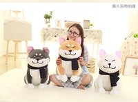 Large 50cm Squatting Akita Inu Lovely Dog Doll Soft Throw Pillow Christmas Gift W0345