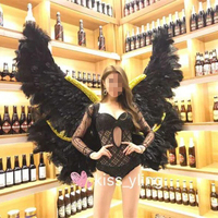 Large Black Angle Wings Props Cosplay photography Game Display Game Party Wedding wing costume catwalk props