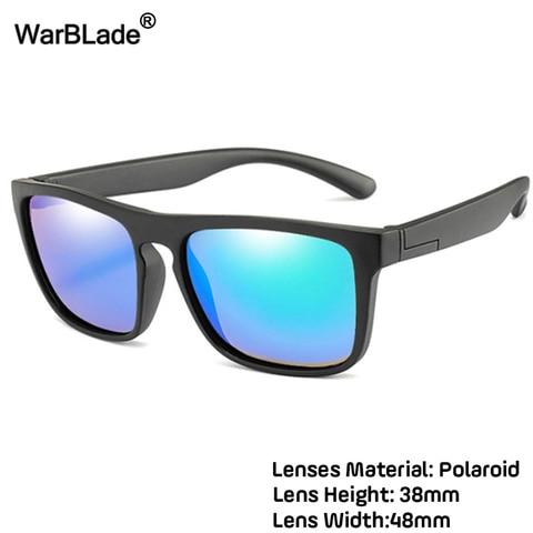 WarBlade 2019 New Kids Silica Soft Sunglasses Polarizing Square Boys Girls Brand Eyeglasses Infant UV400 Breakproof Sunglasses Islamabad