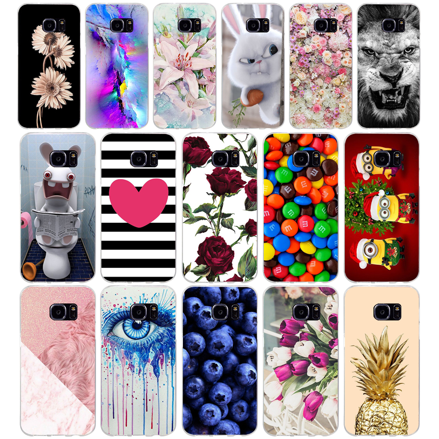 S For Samsung Galaxy S7 egde case Cover for Samsung Galaxy S6 edge Case for Samsung S7 S6 G920F i9600 Cover Silicon Fundas image