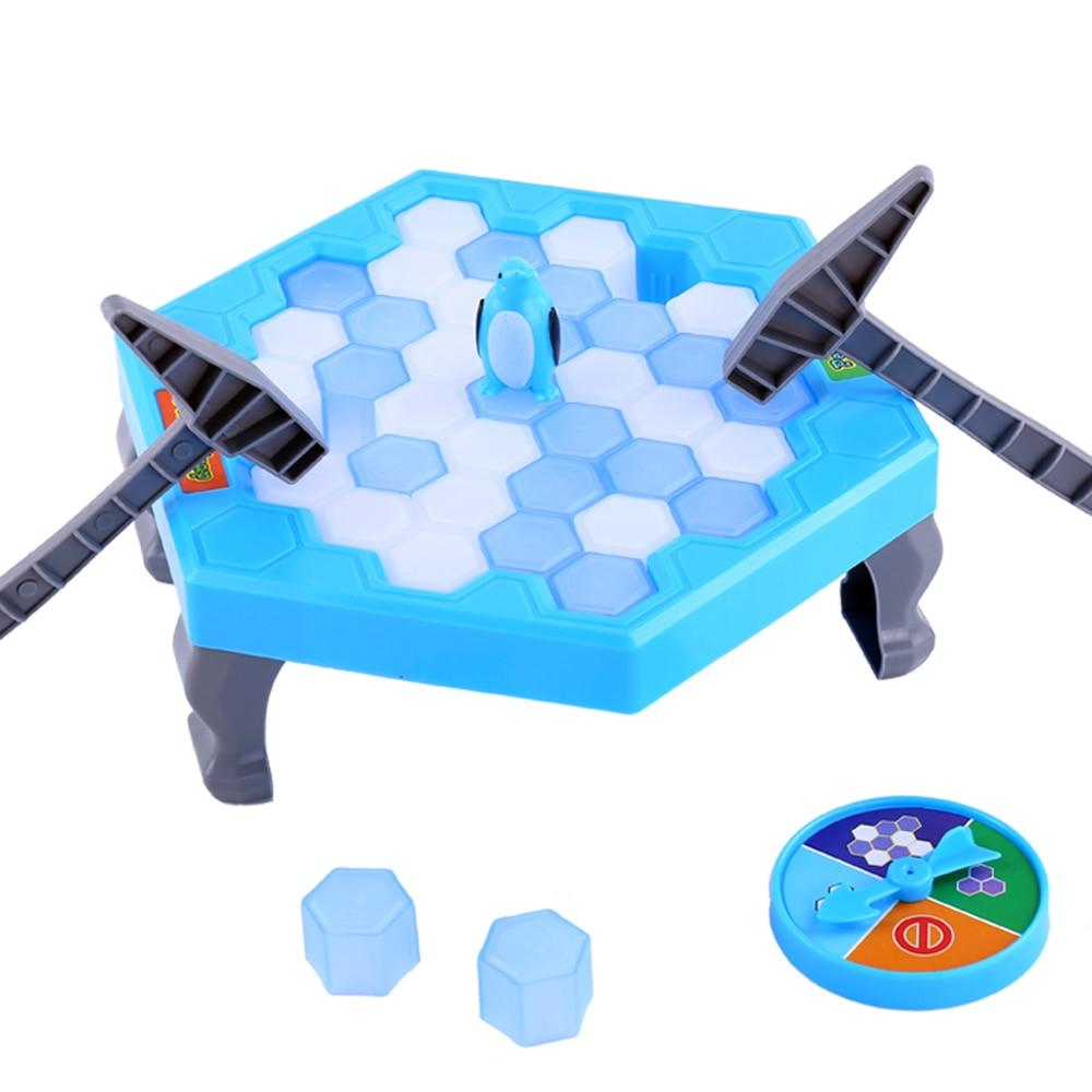Penguin Knock Trap Brettspiel Ice Breaking Save Kinder frühes pädagogisches Blockspielzeug