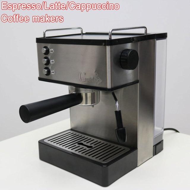 19bar Pump Coffee Maker Machine Semi Automatic Espresso Milk Bubble Steam Foam